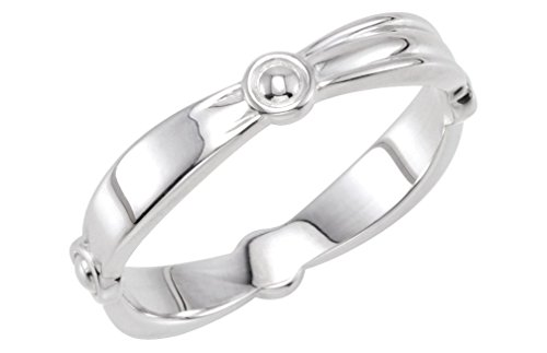 Reverse Tapered Stacking 3.5mm Sterling Silver Ring, Size 7 by The Men's Jewelry Store (for HER)
