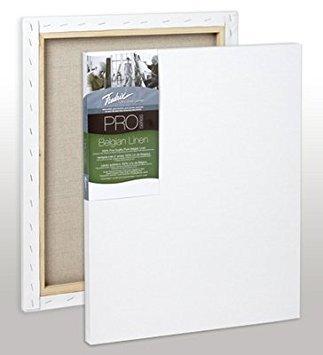 Fredrix Pro Belgian Linen Pre-Stretched Canvas 16 in. x 20 in. each by Fredrix