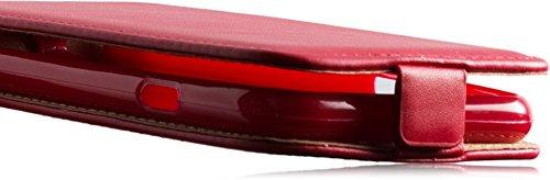 Premium Slim Flexi Handytasche für Apple iPhone 6 4.7 FlipCase Schutzhülle Slim Design Tasche Hülle Cover Flip Style Klapptasche Vertikaltasche mit EC./ Kreditkartenfach in Red/Rot Mit Bruchfester Inn