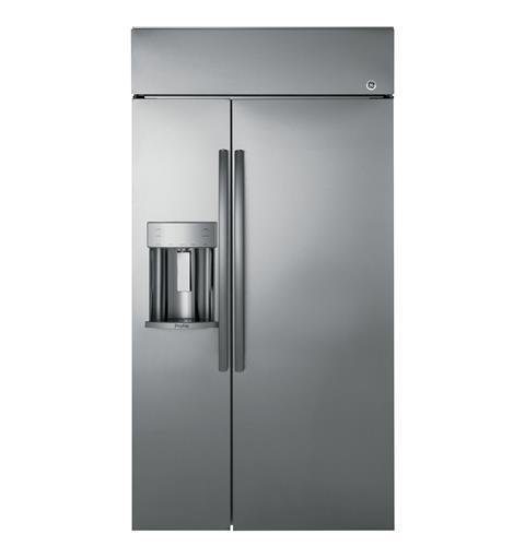 GE Profile PSB42YSKSS Built-in Side-by-Side Refrigerator with 24.3 cu. ft. Capacity in Stainless Steel (Refrigerator Ge Steel Stainless Profile)
