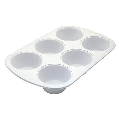 CeramaBake BC6010 Range Kleen 6-Cup Muffin Pan, Jumbo, White