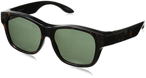 Solar Shield Hollywood Blvd Polarized Wayfarer Sunglasses, Tortoise, 54 - Sunglasses Amazon Glasses Over