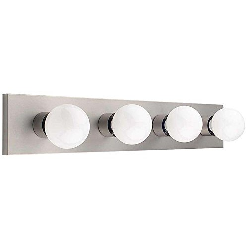 Yosemite Home Decor 4504SN 24-Inch 4-Light Bathroom Vanity, Satin Nickel durable service