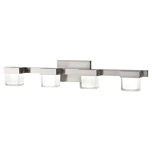 Home Decorators 22814 40-Watt Equivalent 4-Light Brushed Nickel LED Vanity Light