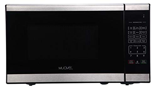 Muave' Compact Home Microwave Oven 0.7 Cu. Ft, 120v Stainless Steel, Ideally Sized RV Microwave Oven, Compact Microwave for Boat Galley or House Kitchen