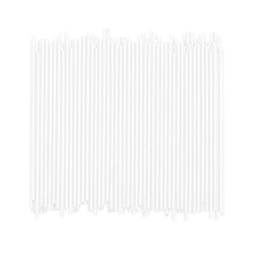 Disposable Plastic Coffee Stirrer Straw - 5 Inch Sip Stir Stick (White, 1,000)