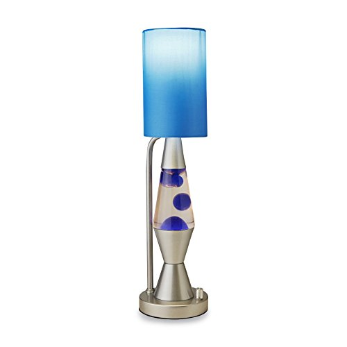 Lava Lamp Relaxing Blue Silver Classic 19