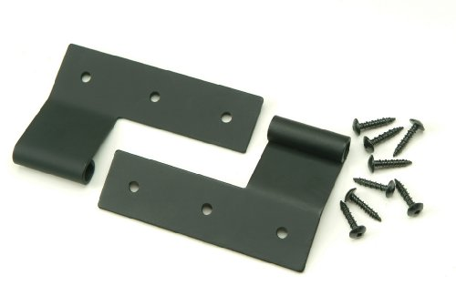 1/2' Offset Flat Hinge for Exterior Shutters, Stainless Steel (Pair)