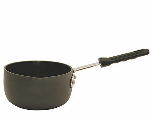 ANODIZED NON-STICK COATED SAUCE PANS 1 QT, 3 QT AND 5 QT W/ CHROME PLATED STEEL COOL HANDLE (3 QT) ()