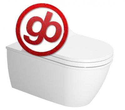 Duravit 2544590000 Wall Mounted Darling New Washdown Model for Sensowash C Toilet, White