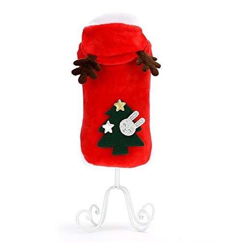ZEEY Pet Hoodie Sweater Elf Christmas Dress Dog Fleece Clothes Puppy Cat Winter Coat Christmas Apparels