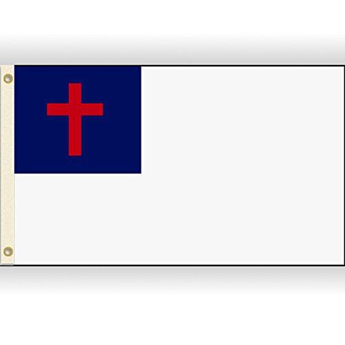 Christian Flag Christianity Cross Banner Church Pennant 2x3 Foot 24x36 inch ()