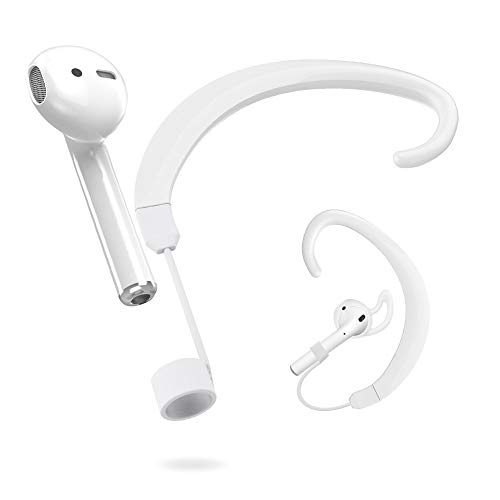 UMTELE Straps Holder Compatible for Airpods, Paired Wireless Hook Accessories Holders Replacement with Apple Airpods [One for Left and One for Right], White (Run Nyc Headphones)