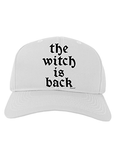 TooLoud The Witch Is Back Adult Baseball Cap Hat - (Halloween Movie Bette Midler)