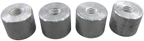 12 pcs Aluminum mounting Bracket kit Weld Bung Plate bolts for Radiator