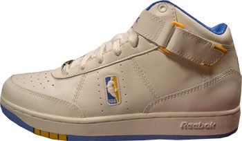 Reebok NBA 4-130935 - Scarpe Downtime Mid, numero 47, colore: bianco-blu/giallo