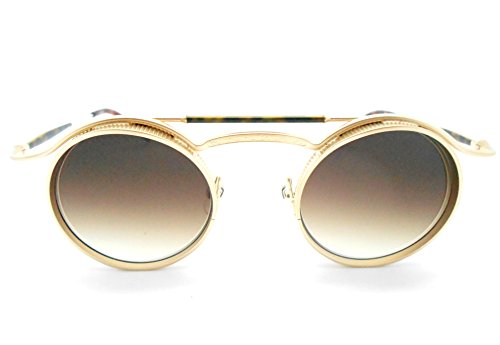 c4d290dbc15 Matsuda 2903H Matte Gold Plated Round Limited Edition Sunglasses