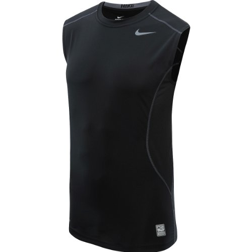Nike Pro Combat Fitted Men's Sleeveless Black Tank Top Shirt Size 3XL