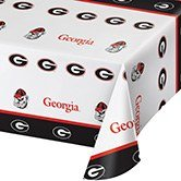 Georgia Bulldogs Table Cover (Pack of 12 NCAA Georgia Bulldogs Tailgating Banquet Table Cloths - 54