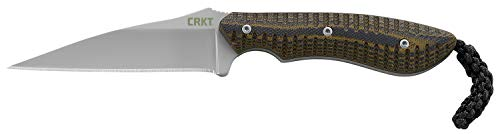 (CRKT S.P.E.W. EDC Fixed Blade Knife with Sheath: Compact Utility Neck Knife, Bead Blast Blade, Textured G10 Handle, Nylon Sheath, Belt Loop 2388)