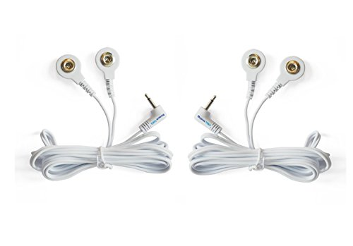 Tens Replacement Lead Wires, 2 Snap Connectors (2 Pack), Discount Tens Brand ()