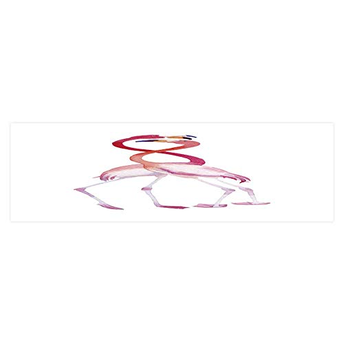 Dragonhome Background Poster Hand Painted Pink flamos on a White Background PVC Aquarium Decorative Paper L23.6 x H19.6