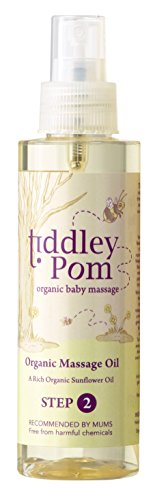 Tiddley Pom Baby Massage Oil 150ml - with Organic Sunflower Seed Oil