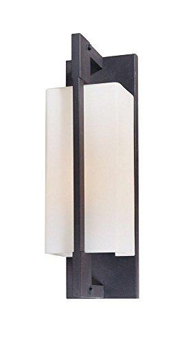 Troy Lighting B4015FI-C Blade - One Light Wall Bracket, Forged Iron Finish with Matte Opal ()