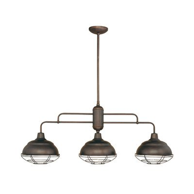 Neo-Industrial 3 Light Kitchen Pendant Finish: Rubbed Bronze