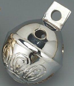 Dozen Brass Sleigh Bells Polished cromo 1.5 H by brassbells.Netta