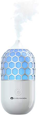 GuruNanda Essential Oil Diffuser- 90ml Honeycomb Aromatherapy Ultrasonic Diffuser, Cool Mist Humidifier with 7
