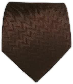 The Tie Bar 100% Woven Silk Chocolate Brown Herringbone Solid Tie