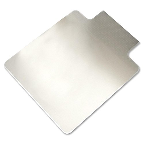 Lorell Chair Mat - 60'' Length x 46'' Width x 0.17'' Thickness Overall - 12'' Length x 25'' Width Lip - Vinyl - Clear by Lorell