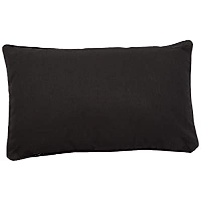 Christopher Knight Home 300747 Coronado Corona Outdoor Rectangular Water Resistant Pillow(s) (1, Black) : Garden & Outdoor
