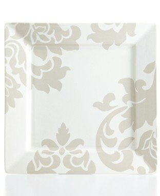 Martha Stewart Collection Lisbon Grey Square Salad Plate