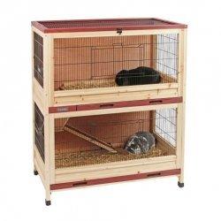 Kerbl Pequeña jaula animal Interior - dos plantas, Cobertizo para animales pequeños, Reserva natural: Amazon.es: Productos para mascotas