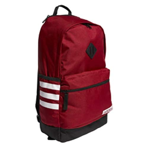 adidas Classic 3s Backpack, Active Maroon/Black/White, One Size