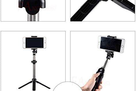 Mini Selfie Tripod with Remote Control for Portable Monopod New 3 in 1 Wireless Bluetooth Selfie Stick