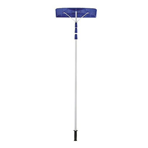 Snow Joe RJ204M 21' Twist-n-Lock Telescoping Snow Shovel Roof Rake with 6'' by 25'' Poly Blade (4) by Snow Joe