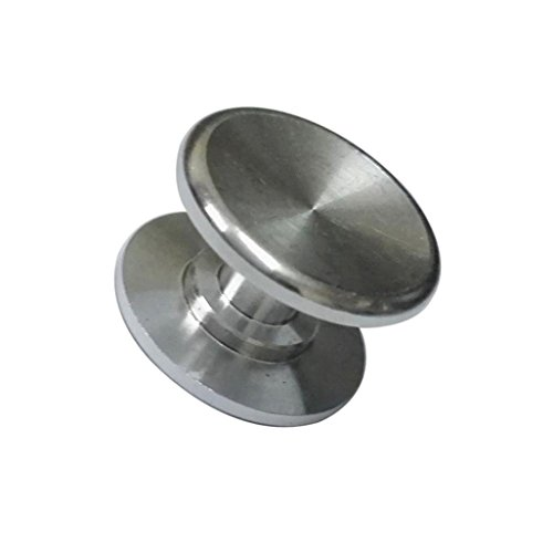 Price comparison product image Kingspinner Stainless Steel Thumb Button for 606 Bearing Cap Focus Spinner Toy (Silver)