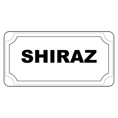 WERRT Shiraz Black Retro Vintage Style Metal Plate Gift Sign - 8