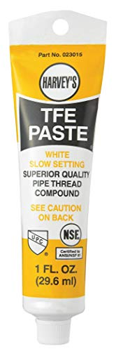 WM Harvey 023015-48 Harvey Pipe Thread Compound, 1 Oz, Tube, Liquid Paste, White