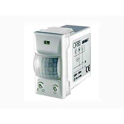 Orbis Minimat OB135312 - Detector de presencia empotrable universal con temporizador 120°