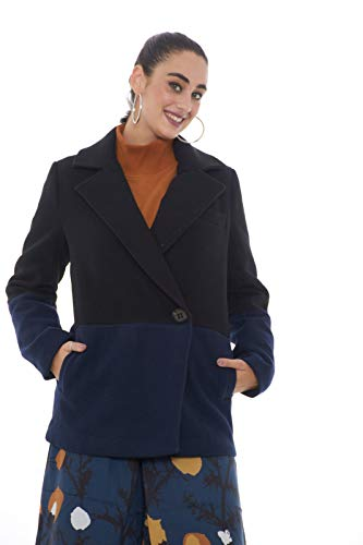 5preview Mujer Tone Azul Okuni Negro Coat Two marino rxPr8I