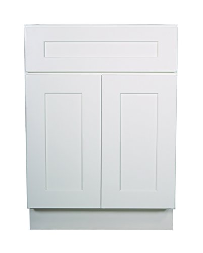 (Design House 561357 Brookings 21-Inch Base Cabinet, White Shaker)