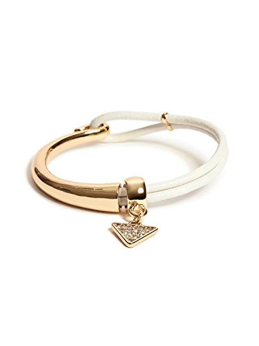 GUESS Factory Women's White and Gold-Tone Friendship Bracelet