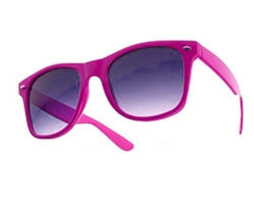 eeddoo® Wayfarer Sonnenbrille - pink - UV400 (Brille für Damen und Herren)