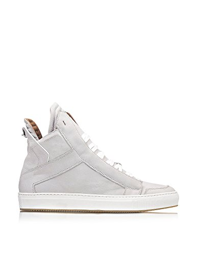 Ylati Hombre YL116 Blanco Cuero Zapatillas Altas