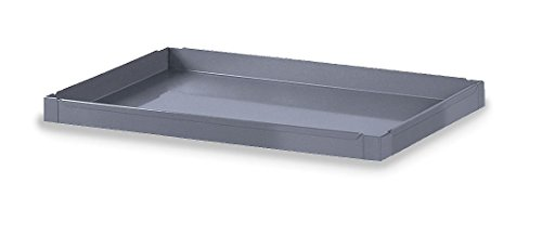 - Edsal SC1803T Additional Tray for Extra Heavy-Duty Service Cart, 16 Gauge Steel, Material Handler, Powder Coated Finish, Industrial Gray Color, 24