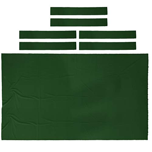 (DYNWAVE Professional Billiard Pool Table Cloth Felt 9ft, Snooker Table Tablecloth for Modern Player - Choice of Color - Green)